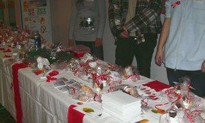 Verkauf des Weihnachtsgebäcks