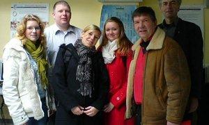 Die Delegation aus unserer Schule in der Partnerschule in Gravina